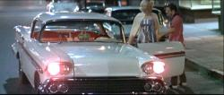 Candy Clark and Charles Martin Smith in American Graffiti.