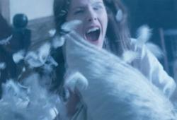 Rachel Hurd-Wood as Betsy Bell, having a ghostly pillow fight in An American Haunting