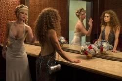 Jennifer Lawrence and Amy Adams in American Hustle.