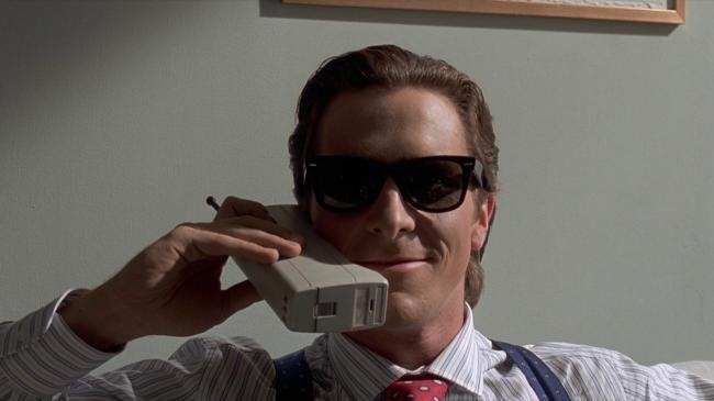 Christian Bale in American Psycho.