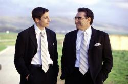 Jason Biggs and Eugene Levy in American Wedding.