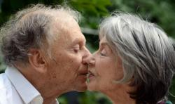 Jean-Louis Trintignant and Emmanuelle Riva in Amour.