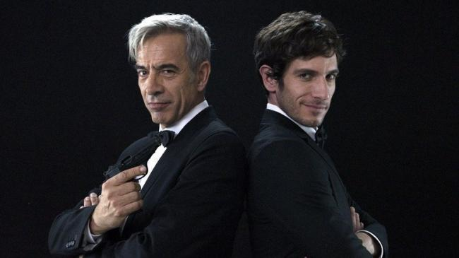 Imanol Arias and Quim Gutierrez in Spy Time