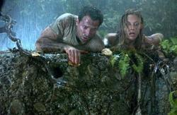 Johnny Messner and Kadee Strickland in Anacondas: The Hunt for the Blood Orchid.