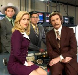 The Channel 4 News Team anchored by Ron Burgundy.