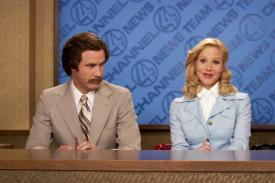 Will Ferrell and Christina Applegate in Anchorman.