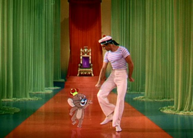 Jerry the Mouse and Gene Kelly in Anchors Aweigh.