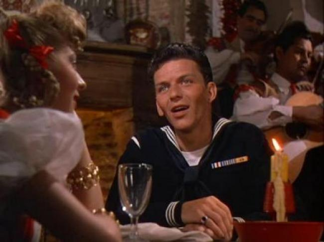 Pamela Britton and Frank Sinatra in Anchors Aweigh.