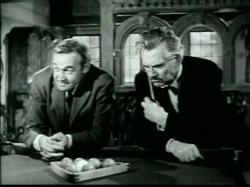 Barry Fitzgerald and Walter Huston in And Then There Were None.
