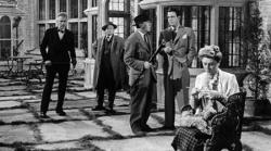Walter Huston, Barry Fitzgerald, Roland Young, Louis Hayward, and Judith Anderson in And Then There Were None.