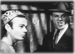 Leo Gorcey and James Cagney in Angels with Dirty Faces.