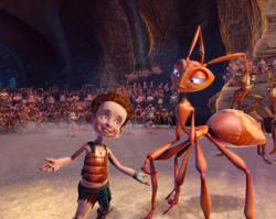 A well known cast provides the voices in The Ant Bully.