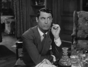 Cary Grant in Arsenic and Old Lace.