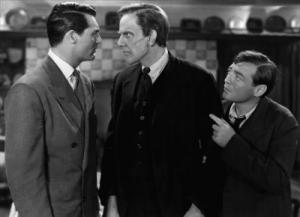 Cary Grant, Raymond Massey and Peter Lorre in Arsenic and Old Lace.