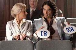 Helen Mirren and Russell Brand in Arthur.
