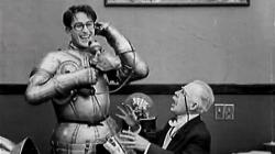 Harold Lloyd trying to Ask Father