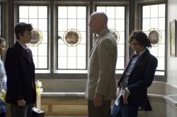 Reece Thompson, Bruce Willis and John Magaro in Assassination of a High School President,