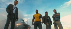 Bradley Cooper, Quinton 'Rampage' Jackson, Sharlto Copley, and Liam Neeson are The A-Team.