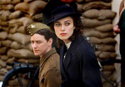 James McAvoy and Keira Knightley in Atonement.