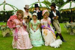The cast of Austenland.
