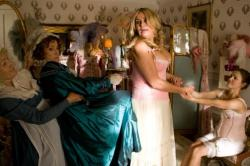 Jane Seymour, Jennifer Coolidge and Keri Russell in Austenland.