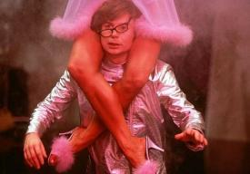 Mike Myers in Austin Powers: International Man of Mystery.