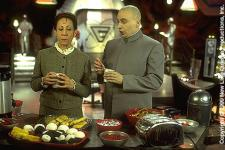 An awkward moment in the office between Dr. Evil and Frau Barbissina.