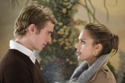 Hayden Christensen and Jessica Alba in Awake.