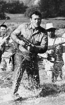 John Wayne in action.