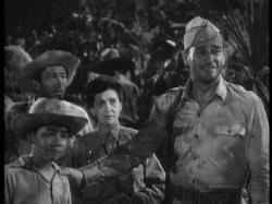 Louie, Beulah Bondi and John Wayne in Back to Bataan.