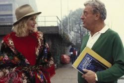Sally Kellerman and Rodney Dangerfield in Back to School.
