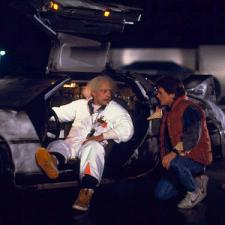 Christopher Lloyd and Michael J. Fox in Back to the Future.