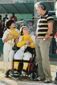 Billy Bob Thornton and a couple of his Bears in Bad News Bears.