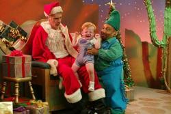 Billy Bob Thornton and Tony Cox in Bad Santa.