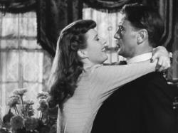 Barbara Stanwyck and Gary Cooper in Ball of Fire.