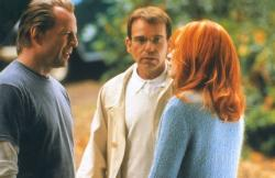 Bruce Willis, Billy Bob Thornton and Cate Blanchett in Bandits.