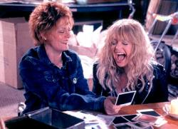Susan Sarandon and Goldie Hawn in The Banger Sisters.