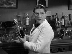 Shemp Howard playing W.C. Fields favorite person, a bar tender, in The Bank Dick