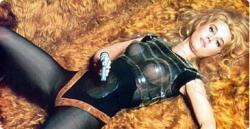 Jane Fonda is Barbarella.