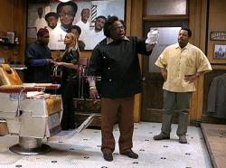 Leonard Earl Howze, Eve, Cedric The Entertainer and Ice Cube  in Barbershop.