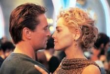 Michael Douglas and Sharon Stone in Basic Instinct.