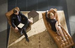 David Morrissey and Sharon Stone in Basic Instinct 2.