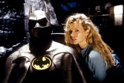 Michael Keaton and Kim Basinger in Tim Burton's Batman.