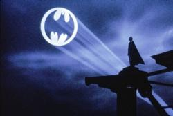 The iconic final shot from Tim Burton's Batman.