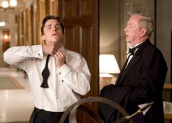 Christian Bale and Michael Caine in Batman Begins.
