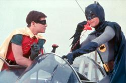 Burt Ward and Adam West in Batman: The Movie.