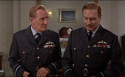Trevor Howard and Laurence Olivier in Battle of Britain.