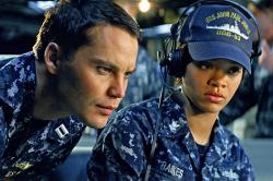 Taylor Kitsch and Rihanna in Battleship.