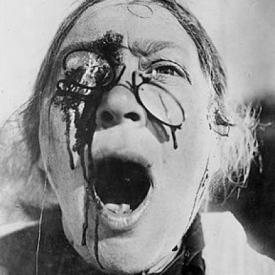 N. Poltavseva in one of the most iconic closeups of all time in Battleship Potemkin.