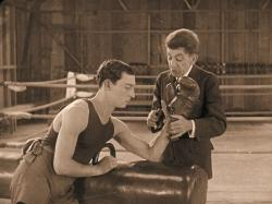 Buster Keaton and Snitz Edwards in Battling Butler.